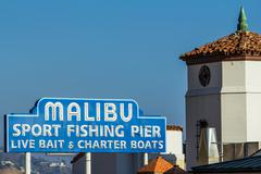 Malibu Famous Sign 2 Stock Photos