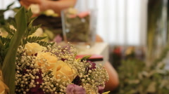 Wedding bouquet flower arrangement Stock Footage