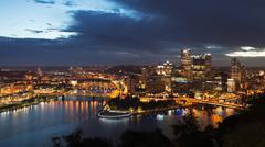 Pittsburgh Skyline Kuvituskuvat
