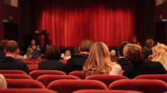 People at theater Stock Footage