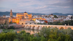 Cordoba, Spain Town Skyline Stock Footage