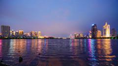 Xiamen, China City Skyline Stock Footage
