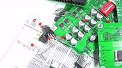 Not loopable rotating electronic components Stock Footage