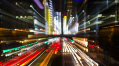 Tokyo city light rush electric abstract neon future 4k Stock Footage