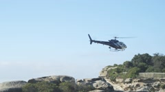 Police Helicopter Sydney Australia Stock Footage