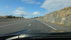 Driving in Northern Ontario. Sunny divided highway. Stock Footage