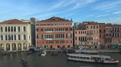 Aerial view panorama Venice italian city landmark iconic place sunny day commute Stock Footage