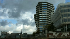 Marco Polo Tower in Hamburg Stock Footage