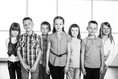 Smiling kids - stock photo