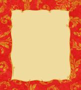 gold laurel leaves background texture - stock illustration