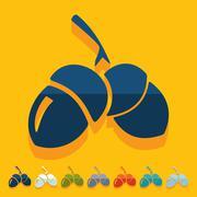 Stock Illustration of Flat design: acorn