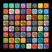 Flat design: exchange chips - stock illustration