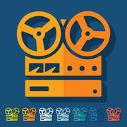 Stock Illustration of Flat design: stereo recorder