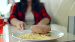 Fast Food Restaurant - stock footage