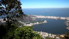 View from the statue of Christ Redeemer Stock Footage