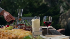 Table full of goodness Stock Footage