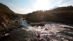 River in Glacier National Park, Montana Stock Footage