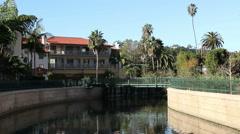 Santa Barbara Mission Creek at State Street Stock Footage
