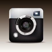 retro camera icon vector illustration - stock illustration