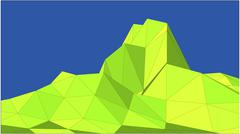 Landscape in low-polygonal style - stock illustration