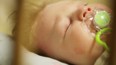 Cradles baby Stock Footage