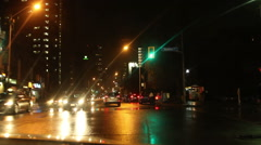 Toronto Streets at Night Bloor St. West Stock Footage
