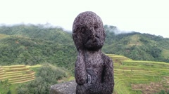 The rice god of Banaue Rice Terraces Stock Footage