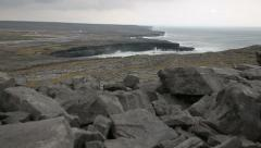 Coastal rock cliffs in Ireland Stock Footage
