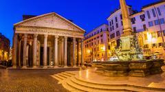 Italy, rome, pantheon Stock Photos
