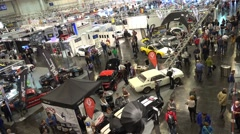 4k Motorshow automobile concept cars trade fair timelapse Stock Footage