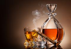 Decanter of whiskey Stock Photos