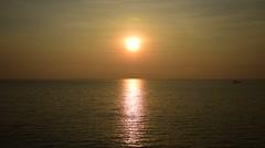 Sunrise at sea, Rayong, Thailand Stock Footage