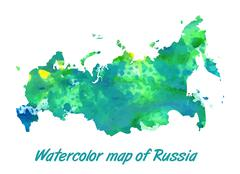 The contour map of the Russian Federation Stock Illustration