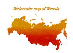 The contour map of the Russian Federation - stock illustration