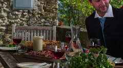Stock Video Footage of End business lunches