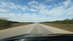 Manitoba highway timelapse. Trans Canada HWY 1. Stock Footage