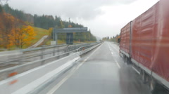 Truck on the road Stock Footage