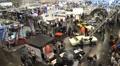 Motorshow automobile concept cars trade fair timelapse Footage