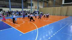 Children's Ballroom dancing tournament, extra wide plan Stock Footage
