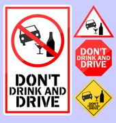 Do not drink and drive Stock Illustration