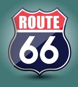 Stock Illustration of route 66 sign