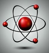 atom - stock illustration