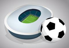 Soccer stadium Stock Illustration