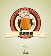 Stock Illustration of beer design