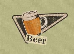 vintage beer design - stock illustration