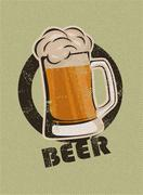 Stock Illustration of vintage beer design