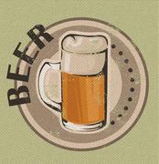 Stock Illustration of vintage beer design