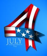Stock Illustration of july 4 background