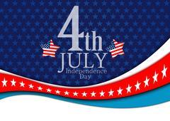 july 4 background - stock illustration