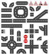 Stock Illustration of road elements